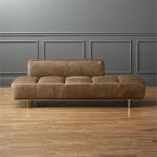 modern daybed. Exellent Daybed Lawndale Saddle Leather Daybed With Brass Base Inside Modern Daybed S