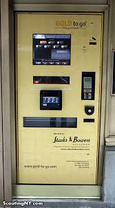 Gold Bar Vending Machine Mesmerizing There's A GoldDispensing ATM On West 48th Street Scouting NY