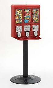 Mini Chocolate Vending Machine Delectable Amazon Triple Vend Candy Gumball Vending Machine Candy