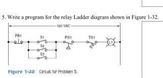 solved write a program for the relay ladder diagram shown ladder diagram simulator question write a program for the relay ladder diagram shown in figure 1 32