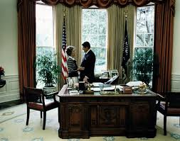 ronald reagan oval office. nancy and ronald reagan in the oval office of white house.