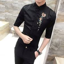 Mens Shirts With Embroidery Design Factory Direct Blouses Homme Fashion Designer Men Shirt 2018