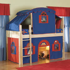 bolton furniture cottage low loft bed with curtain