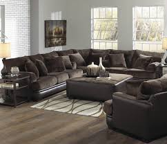 dark brown leather couches. Furniture. Dark Brown Velvet Couch Plus Black Leather Base Also Cushions Combined With Block Couches D