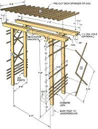 Small Picture How to Build a Simple Entry Arbor Arbors Gardens and Yards