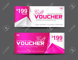 Gift Voucher Template Gift Voucher Template Coupon Design Pink Gift Certificate