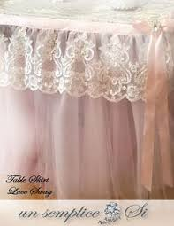 Tulle Table Skirt Accessories Swags by UnSempliceSi on Etsy