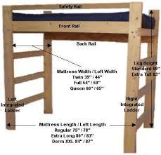 diy loft bed plans free | College Bed Lofts - Basic Loft Bed | loft ...