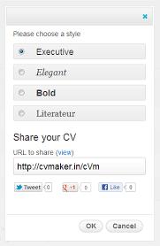 Create an Online CV