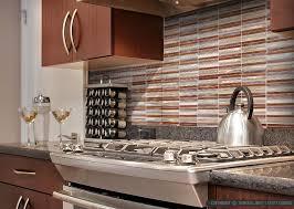 brown metal modern kitchen backsplash tile