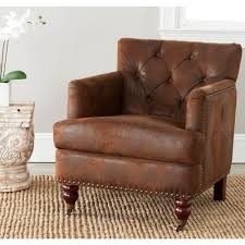 safavieh colin birchwood chair in brown hud8212b the home depot chairs living room