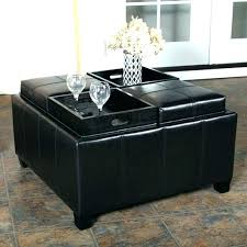 black leather ottoman tray top wood large trays for coffee table ottomans furniture magnificent storage with