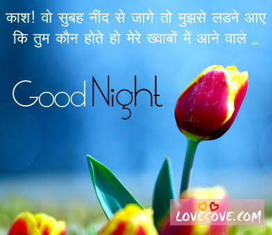 good night msg in hindi for love