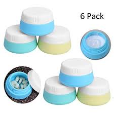 silicone travel cosmetic conners 20ml with hard sealed lids leakproof bpa free portable tsa approved
