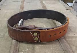 65 Leather <b>Men's</b> Belt Brown <b>Split Leather</b> Rustic Buckle - Deep ...