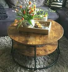 In fact, oval coffee tables are becoming more rare in the current design realm, as perfect circles and long rectangles seem to be the norm. Industrial Coffee Table Vintage Rustic Wood Metal Cart Wheel Cocktail Furniture For Sale Online Ebay