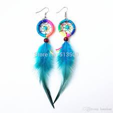 Dream Catcher Earing Inspiration 32 32% Hand Made Indian Feather Dream Catcher Earring Feather