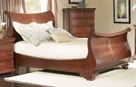oak sleigh bed super king size