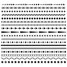 Border Patterns Magnificent Line Borders Set Geometric Dotted Vector Dividers Horizontal