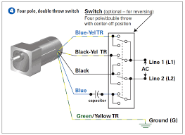 how to connect a reversing switch to a 3 or 4 wire psc step 4 how to connect the four pole double throw switch
