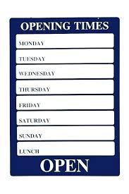 Hours Sign Template