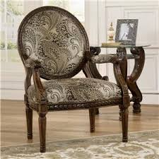 traditional chair design. Traditional Showood Accent Chair With Carved Wood Frame Design C