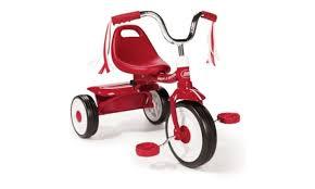groupon radio flyer radio flyer folding trike red tricycle kids bike toddler ride child