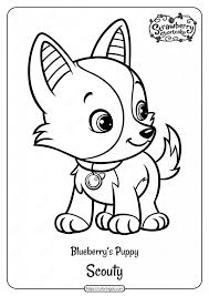 They're so cute and cuddly and fun. Printable Blueberry S Puppy Scouty Pdf Coloring Page