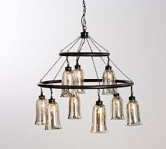 mercury glass chandelier supreme brantley antique pottery barn interior design 5