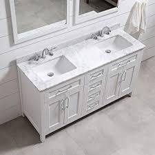 white double sink vanity. Unique Vanity Ove Decors Tahoe 60W Marble Top Bathroom Double Sink Vanity 60Inch By 21 Intended White Vanity