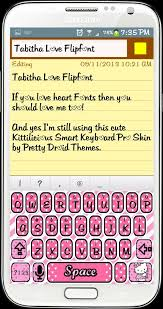 Cute Fonts For Android Tabitha Love Flipfont For Android Love Android Love Heart