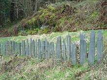fence meaning. Slate Fencing In Mid-Wales Fence Meaning E