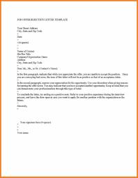 Decline Job Offer Letter Sop Proposal With Letter To Decline Job