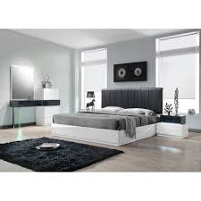 Modern Leather Bedroom Sets Contemporary Platform Masculine Bedroom Sets Faux Leather Cal King