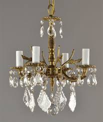 preferred brass and crystal chandeliers inside spanish brass crystal chandelier c1950 gallery 5 of