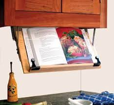 Amazon.com: Under Cabinet Mounted Cookbook Holder - Wood - Made in the USA:  Cookbook Stands: Kitchen & Dining