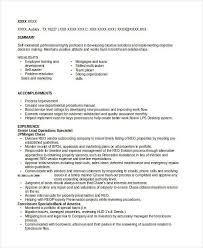Banking Operations Specialist Resume