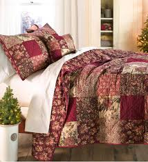 king cranberry fl patchwork quilt set