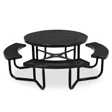 round expanded steel table portable frame