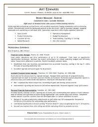 Sample Bank Manager Resume Branch Manager Banking Sample Bank