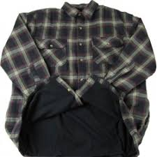 Falcon Bay Thermal Lined Flannel Shirt   Big and Tall, Navy, Brown & Falcon Bay Big and Tall Thermal Lined Flannel Shirt Adamdwight.com