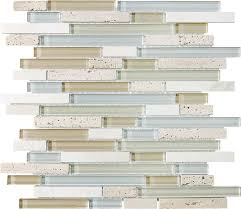 anatolia bliss twilight mist stone stainless blend linear mosaic