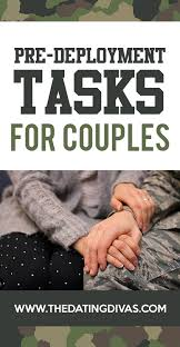 pre deployment ideas and tasks for couples