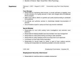 Social Work Resume Templates Free Best of Social Work Resume Template Example Examples Resumes Medical Social
