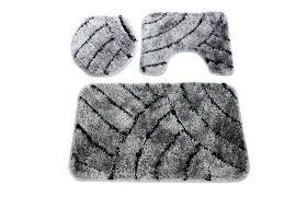 picturesque 3 piece bathroom rug set smart 4 piece bathroom rug set best of anti slip