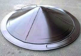 metal fire pit cover. Fire Pit Covers Round Metal Dome Nice Fireplaces Custom . Cover T