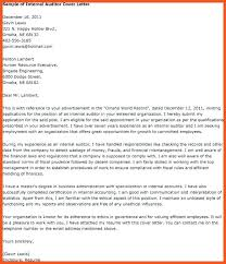 Cover Letter Auditor Letters For Audit Executive Thekindlecrew Com