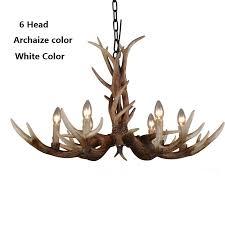 6 head 10 head modern antler chandelier retro resin deer horn chandeliers lighting palace res europe american country light
