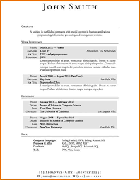 Resume Templates With No Experience New Sample Resume For First Job No Experience Kubreeuforicco