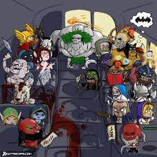 Dota2Caps.com - Dota heroes in bus via Relatably.com